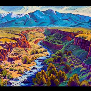 Spring Blue Mountain, Canyon, River & Bighorns