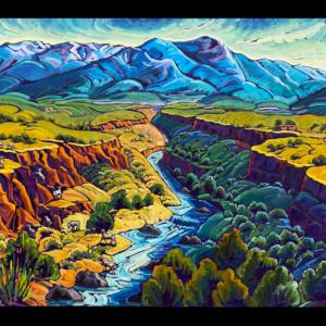 winter mountain canyon and bighorns