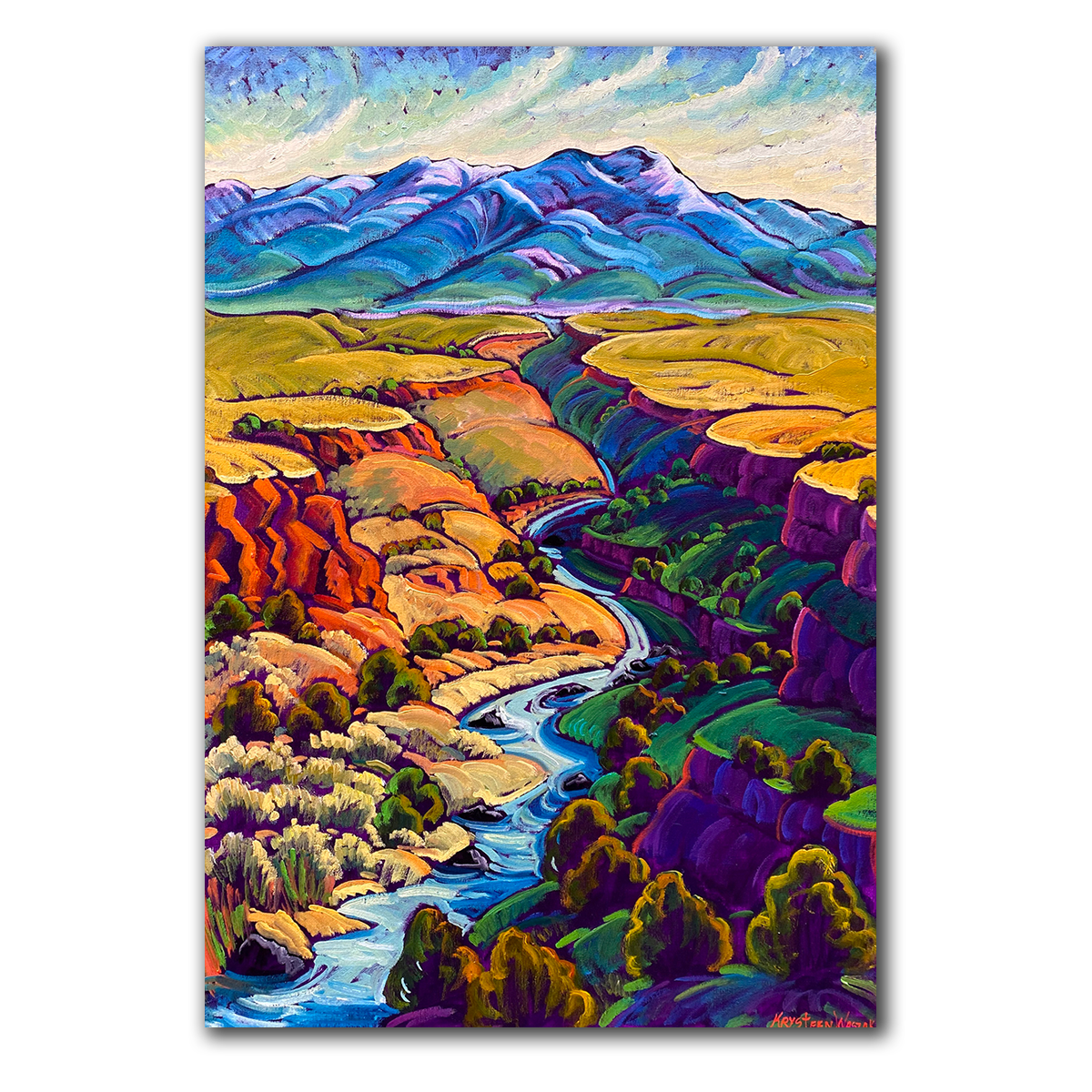 Canyon and River Runs Through It 20x30