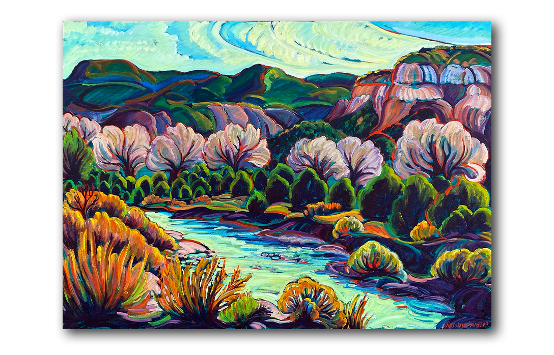 Chama River, Road To The Monastery, Krysteen Waszak Art, homage to Alyce Frank