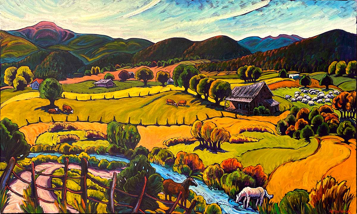 Fields of Llano San Juan With Acequia