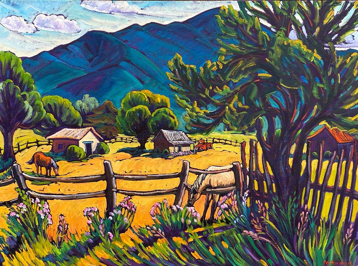 Taos Blue, Taos Adobes