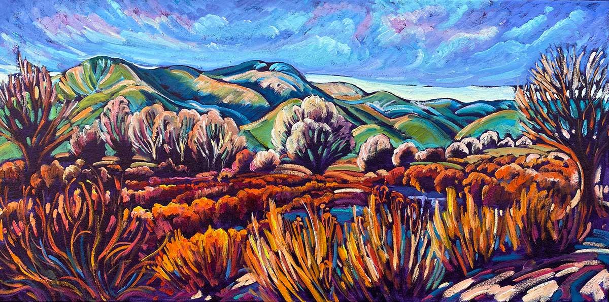 Taos Mountain, Red Willow Sunset